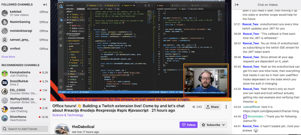 sourcing talent on twitch