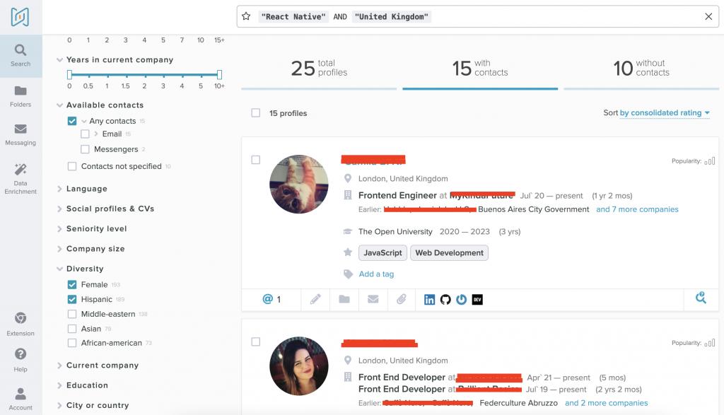 diversity sourcing software